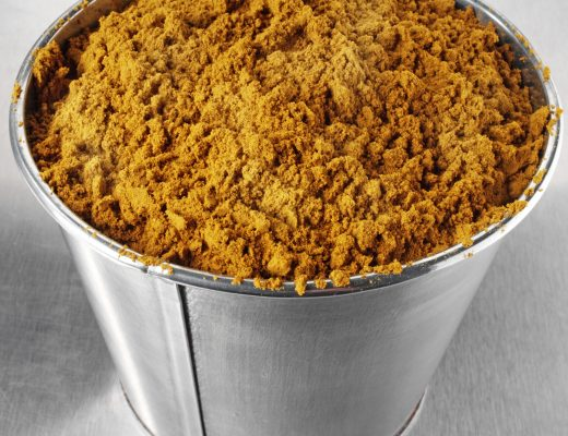 Container Full Of Curry Powder